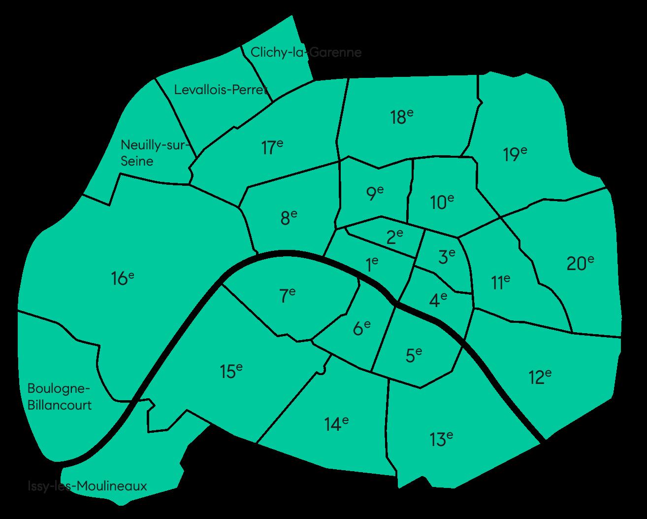 Carte zone desservie BCBG
